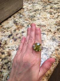 gold-colored and green gemstone ring Arlington, 76017