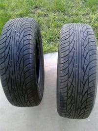 two black rubber car tires Shafter, 93263