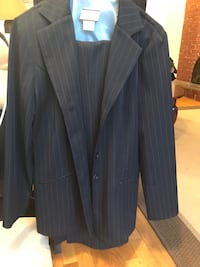 black and gray pinstripe suit jacket Burnaby, V5A 1C4