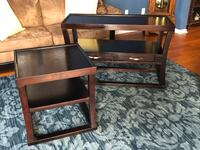 Sofa table and end table expresso color