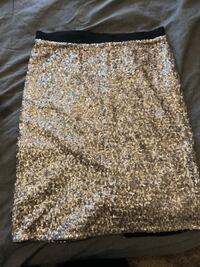 Silver sequined skirt Tracy, 95377