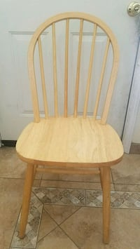 brown wooden windsor chair with white pad Henderson, 89014