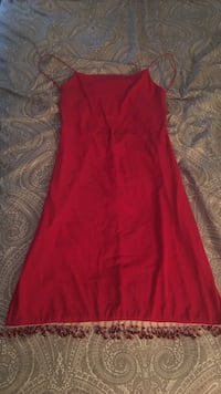 Formal beaded bottom open back cocktail dress worn once size M