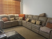 Tan leather recliner sectional Surprise, 85379