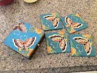 Butterfly Coaster and Coaster Caddy