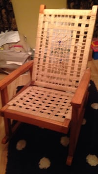 Lite wood rocking chair. Weaving is hand done.  Sturdy. Lutherville Timonium, 21093