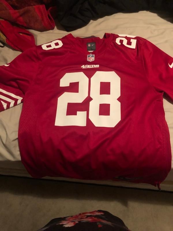 buy online a91ef 124f0 Size large niners Jersey
