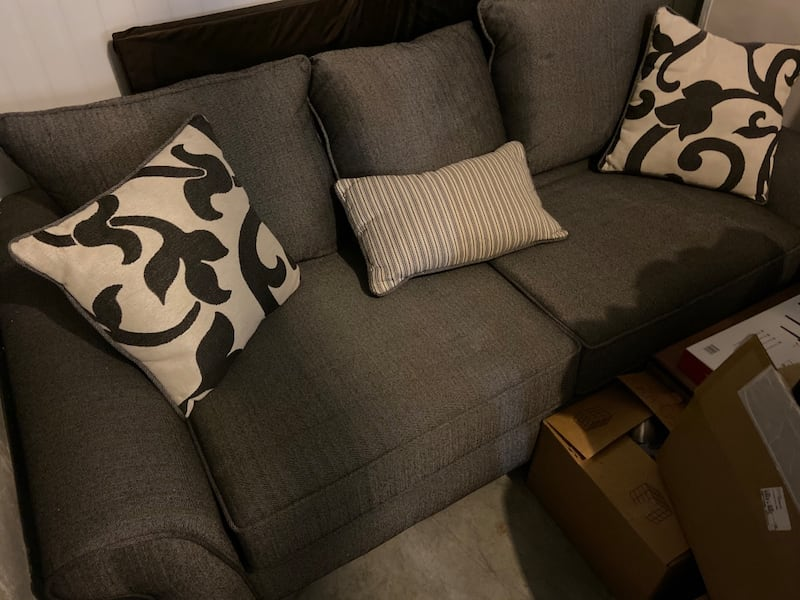 Need gone ASAP Like-new Condition Gray Sofa and Cushions (NEGOTIABLE)  c23ba7cf-6bcf-4f31-a84c-86d2a125a26d