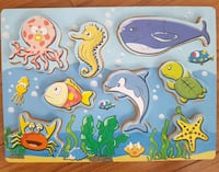 Sea Themed Wooden Chunky Puzzle - 8pc