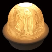 """ Our Lady Fatima "" LED BASE Dome Light With Candle Plate Brampton, L7A 3M2"