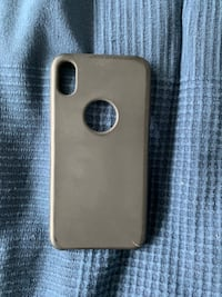 Matte black iPhone XS max silicone rubber case