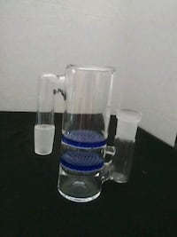 white and blue glass water bong Stanton, 90680