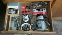 Electric and air router lots of bits Bristol, 53104