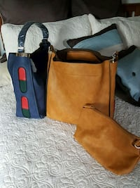 brown and black leather tote bag Seymour, 06483