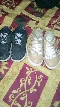 two pairs of black and white low-top sneakers San Antonio, 78229