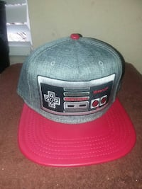 gray and red game controller embroidered fitted cap Mansfield, 76063