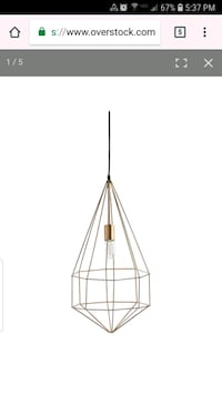 New in box mercana gold metal pendant light  Visalia, 93291