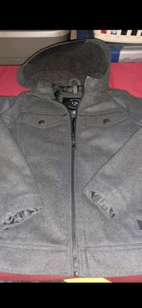 Boys coat hoodie jacket size small 7/8