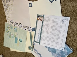 Winter Pre-made scrapbook pages. just add pictures.
