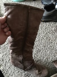 Brown knee high boots size 10