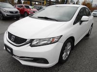 2013 Honda Civic White Surrey, V3T 2T3