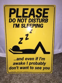 Please do not disturb i'm sleeping signage Chestermere, T1X 1L1
