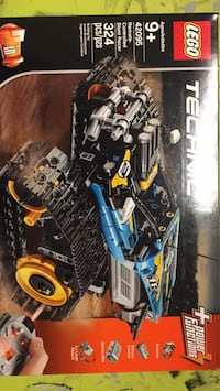 black and blue RC car toy