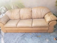 beige leather 3-seat sofa Huntington Park, 90255