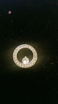 Sterling silver  charm with real diamond  Hyattsville, 20784