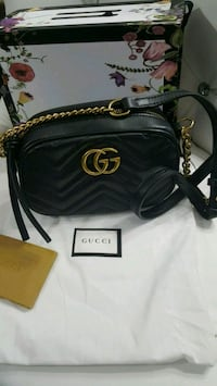 black leather gucci hand bag. Mississauga, L5W 1P1