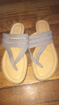 Sandals /pair of gray leather sandals 7