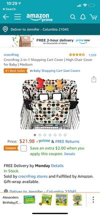 Baby shopping cart cover Columbia, 21045