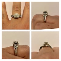 Size 5, 14k white gold, .65c Diamond Ring
