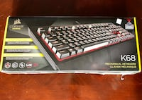Like New—-Gaming Keyboard-K68 Corsair Alexandria, 22315