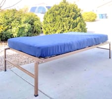 Twin platform bed with new mattress