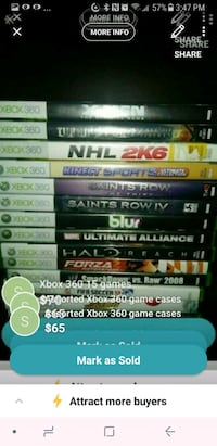 assorted Xbox 360 game cases screenshot Vancouver, V5X 1N3