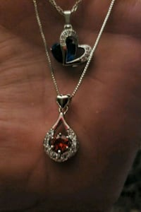 silver and red gemstone pendant necklace Greeneville, 37743