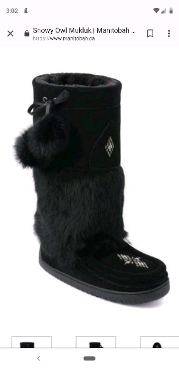 black fur fur lined boots
