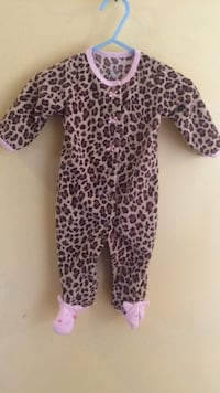 Gray, brown, and black leopard footie pajamas Commerce, 30530
