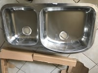 gray stainless steel double sink Glendora, 91740