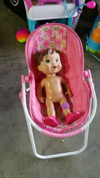 Baby doll and swing Tracy, 95376