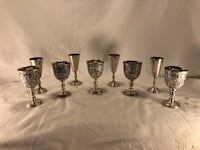 Antique Metal Shot Glass set Chagrin Falls, 44023