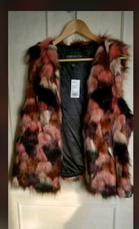 Brown and black fur coat Welland, L3C