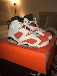 White-and-red air jordan 7 shoes Santee, 92071