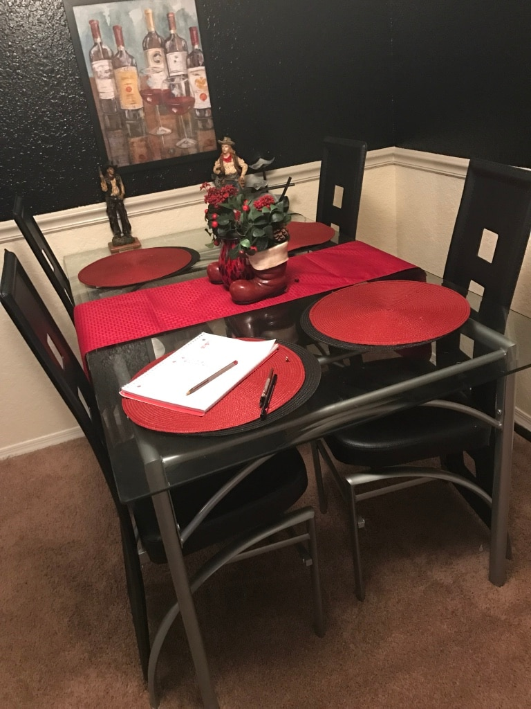 Clear Glass Dinette Table Set With Chairs