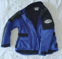 blue and black zip-up motorcycle jacket Ottawa, K4B 1N6