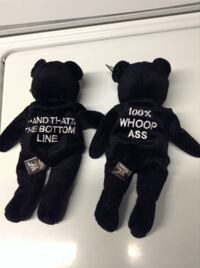 two black-and-white bear plush toys Alexandria, 22303