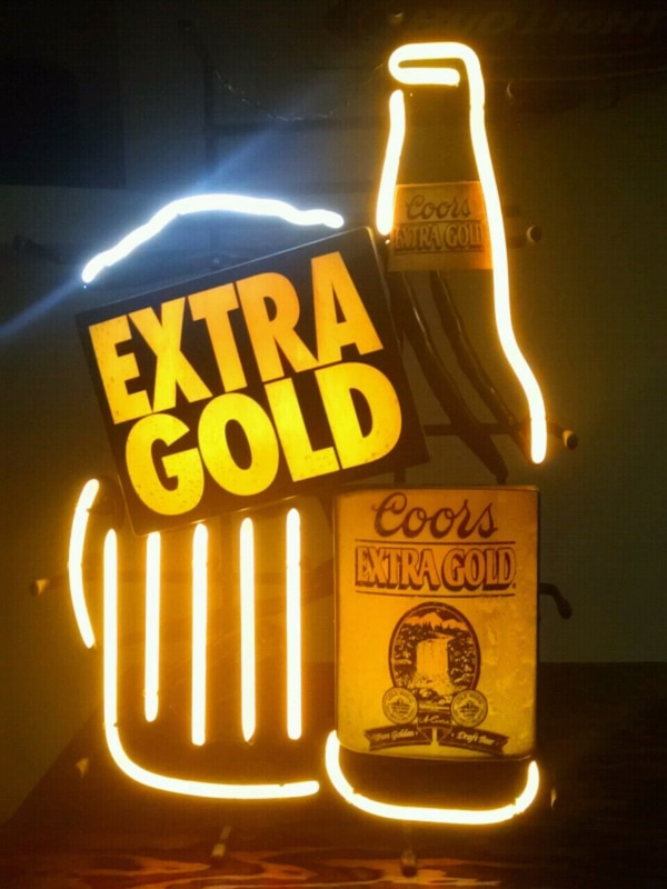 Coors Extra Gold >> Coors Extra Gold Neon Bar Sign