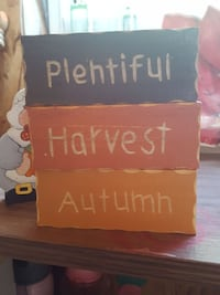 plentiful harvest autumn signage