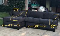 CINDY CRAWFORD HOME SLATE 2 PIECE SECTIONAL Houston, 77041